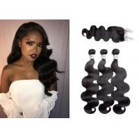 China Full And Thick Peruvian Body Wave Hair Bundles With Closure Can Be Dyed wholesale