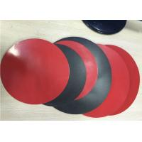 Quality 1.8mm Thick 3003 Aluminum Circle Sheet Red Teflone Coating 250mm Corrosion Resistance for sale