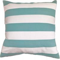 China Green Stripe Printed Pillow Cushion Covers , Decorative Pillow Covers wholesale