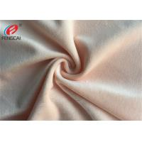 Knitted Minky Plush Fabric 100 % Polyester Solid Colour Velboa For Blanket