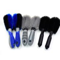 China Care Detailing Rim Car Wash Brush , Bicycle Car Tire Brush Easy To Use wholesale