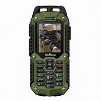 China Rugged Mobile Phones, IP57 Water-resistant, Dual-SIM Card, with GPS Navigation wholesale
