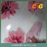 China 137cm width 0.18mm thickness 100% PVC Printed Transparent film / pvc clear sheet wholesale