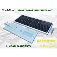 Quality 80Watt 9000lm Outdoor LED Solar Street Light For Highway , Square for sale