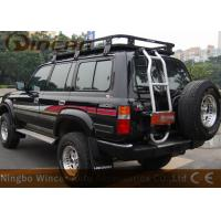 China Car Roof Rack All steel universal Rain Gutter Mounting black offroad roof luggage rack wholesale