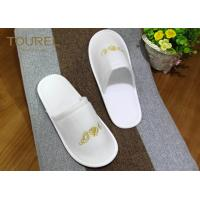 Quality EVA Sole Disposable Hotel Slippers Pulled Plush Slippers Closed Toe for sale
