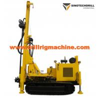 Quality Rotary Drill Rig Machine For Water Well , Crawler Drilling Rig Geothermal Air Conditioner Hole for sale