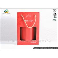 China Custom Made Kraft Packaging Boxes Corrugated Storage Boxes With Ribbon Handles wholesale