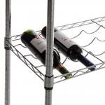 "China Carton Steel 5 Shelf Wire Wine Rack With 34""Posts Adjustable  ODM wholesale"