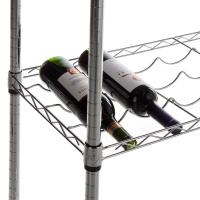 "Carton Steel 5 Shelf Wire Wine Rack With 34""Posts Adjustable  ODM"