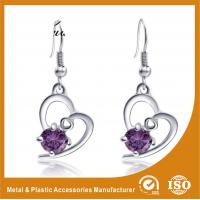 China 2.6CM Alloy Heart Metal Earrings Jewelry  / Safety Pin Earrings wholesale