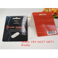 Quality OEM Blister Card Packaging For Enhancing Max Man Capsules Packaging for sale