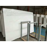 China White Polished Marble Floor Tiles No Radiation CE Certification wholesale