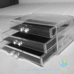 China clear acrylic makeup storage box wholesale