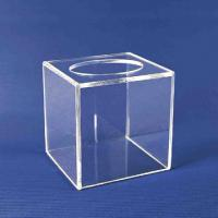 China Promotional Clear Acrylic Tissue Box For Home / Hotel  20cm * 20cm * 20cm wholesale