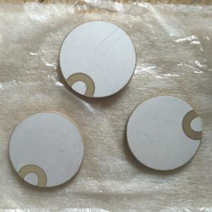 China 30x2mm Curl Edge Piezo Ceramic Element Positive / Negative In One Side wholesale