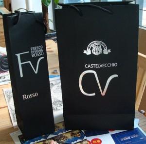 China Black kraft paper Red wine bag 1bottle bag 2bottle bag wholesale