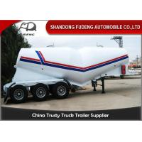 China 55cbm 3 Axle Dry Bulk Cement Truck Powder Transport Tanker Semi Trailer for Uganda wholesale