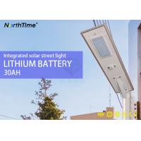 China Outdoor Integrated All In One Solar Street Light 50W Aluminum Alloy Motion Sensor Bluetooth wholesale