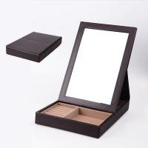 China Handmade Luxury Jewelry Display Box With Mirror Inside Custom Logo / Size on sale
