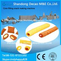 China Core filling snack processing machine / cream snack making machine on sale