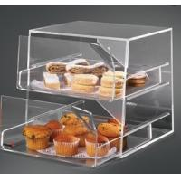 China 2 Tier Acrylic Bakery Display Case , Perspex Food Display Cabinets wholesale