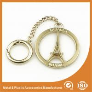 China Gold Custom Size Eiffel Tower Hollow Custom Metal Logo Labels For Handbags Accessory wholesale