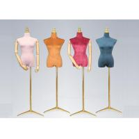 China Female Colorful Flannelette Decorative Shop Display Mannequin With Golden Metal Stand wholesale