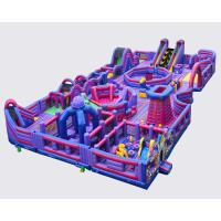 China Giant Bouncy Indoor Inflatable Obstacle Course Juego Jockey / Blow Up Amusement Park on sale