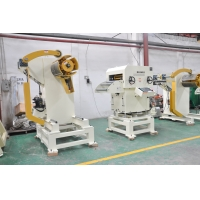 China 500mm width sheet metal coil uncoiling straightening machine feeder used for punch press on sale
