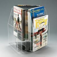 China Clear Plexiglass Magazine A5 Literature Acrylic Display Holders Rotating wholesale