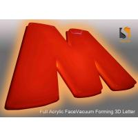 China 78cm Height Plastic Commercial Building Sign Letter With Vacumed 5cm Flat Shape Face wholesale