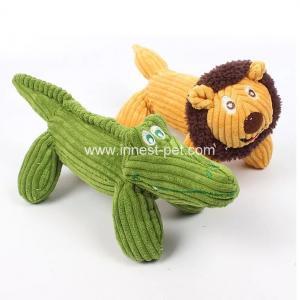 China 2018 new Yellow lion and  green crocodile plush pet dog soft toys wholesale