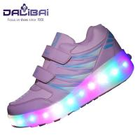 Quality Fashion Flashing Unisex LED Casual Shoes Luminous Roller Sneakers With Mesh Lining for sale