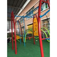 China Durable Kids Outdoor Gym Equipment Aluminium Alloy Post With Arch PE Plastic Climber wholesale