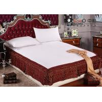 China Full Size Bed Skirts With Split Corners , Classic Wrap Around Bed Skirt wholesale