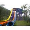 Quality Aqua Park Equipment Water Park Slides , Fiberglass Free Fall Water Slide for Adults for sale