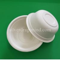China Biodegradable Disposable Sugarcane Pulp Paper Bowl, Food Grade, 500ml wholesale