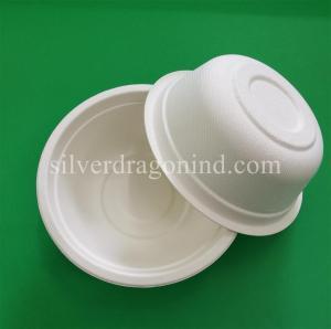China Biodegradable Disposable Sugarcane Pulp Paper Bowl, Food Grade, 500ml wholesale