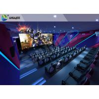 China Unique Entertainment 4D Movie Theater With Electronic Motion Seats wholesale