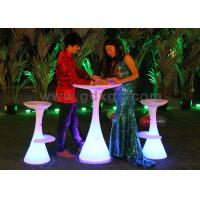 China Modern Design Lightweight lighting LED Bar Stools for Events with 16 colors changeable wholesale