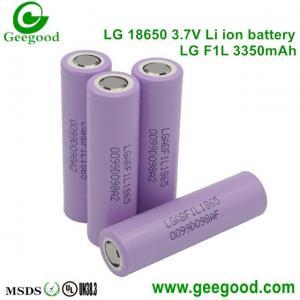 Authentic LG F1L 3350mAh 3.7V lithium battery 18650 high capacity batteries