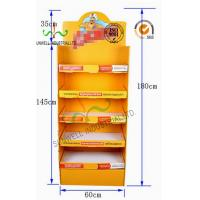 China Custom Retail Store Cardboard Display Stands With CMYK Full Color Printing wholesale