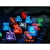 China RGB clear acrylic gift led edgelit sign board for decoration wholesale