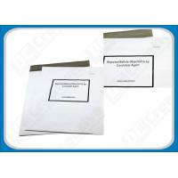 China Sequential Numbered White Plastic Courier Envelopes FOR Shipping Packaging on sale