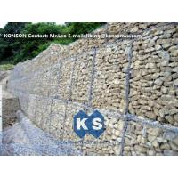 China Durable Gabion Retaining Wall 3.0 - 4.5mm Dia with PVC Coated Stainless Steel Galvanized Wire wholesale