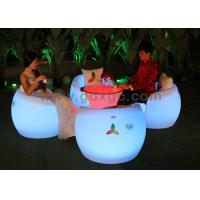 China Color Changeable Outdoor Led Furniture Arm Bar Chairs With Tables wholesale