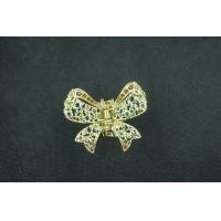 China Alloy Copper Crystal Jeweled Hair Accessories Butterfly Hairpin Jewelry for Gift on sale