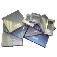 Quality Men's Collection Keepsake Gift Boxes Eco-friendly 1400GSM Cardboard Pear Blue for sale