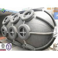 China ISO standard pneumatic floating ship fender with tire chain wholesale
